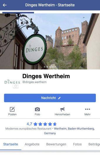 Facebook Feed Dinges