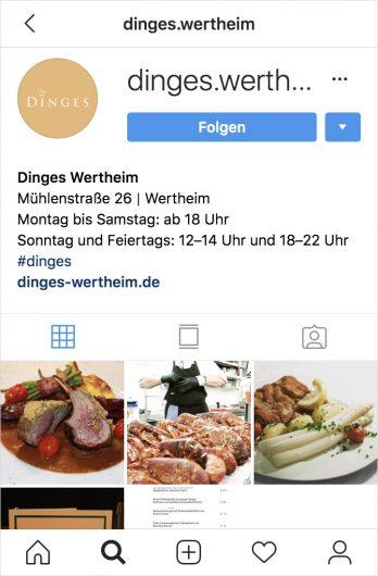 Instagram Feed Dinges